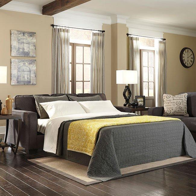 Alenya Charcoal Queen Sofa Sleeper Signature Design By Ashley Furniturepick