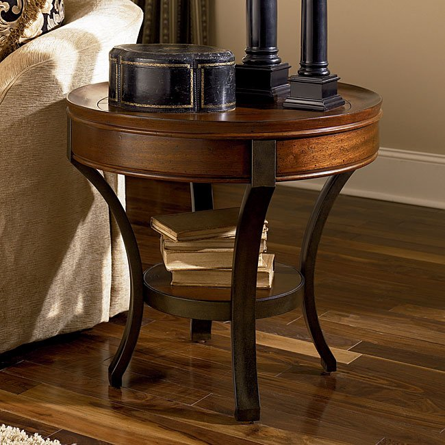 Sunset Valley Round End Table By Hammary Furniturepick