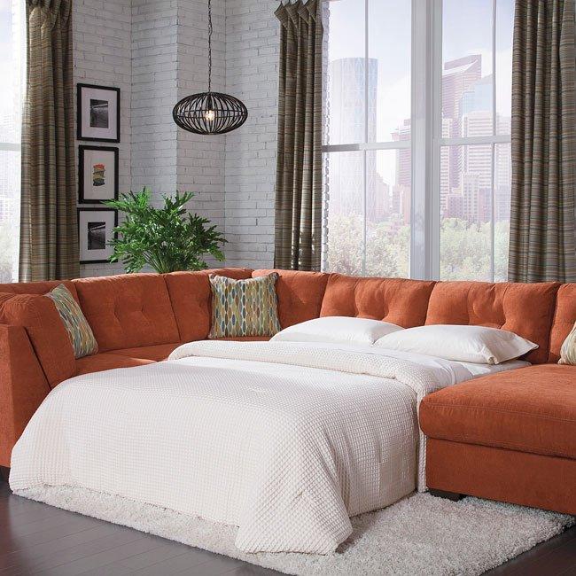 Sensational Delta City Rust Armless Sleeper Beatyapartments Chair Design Images Beatyapartmentscom