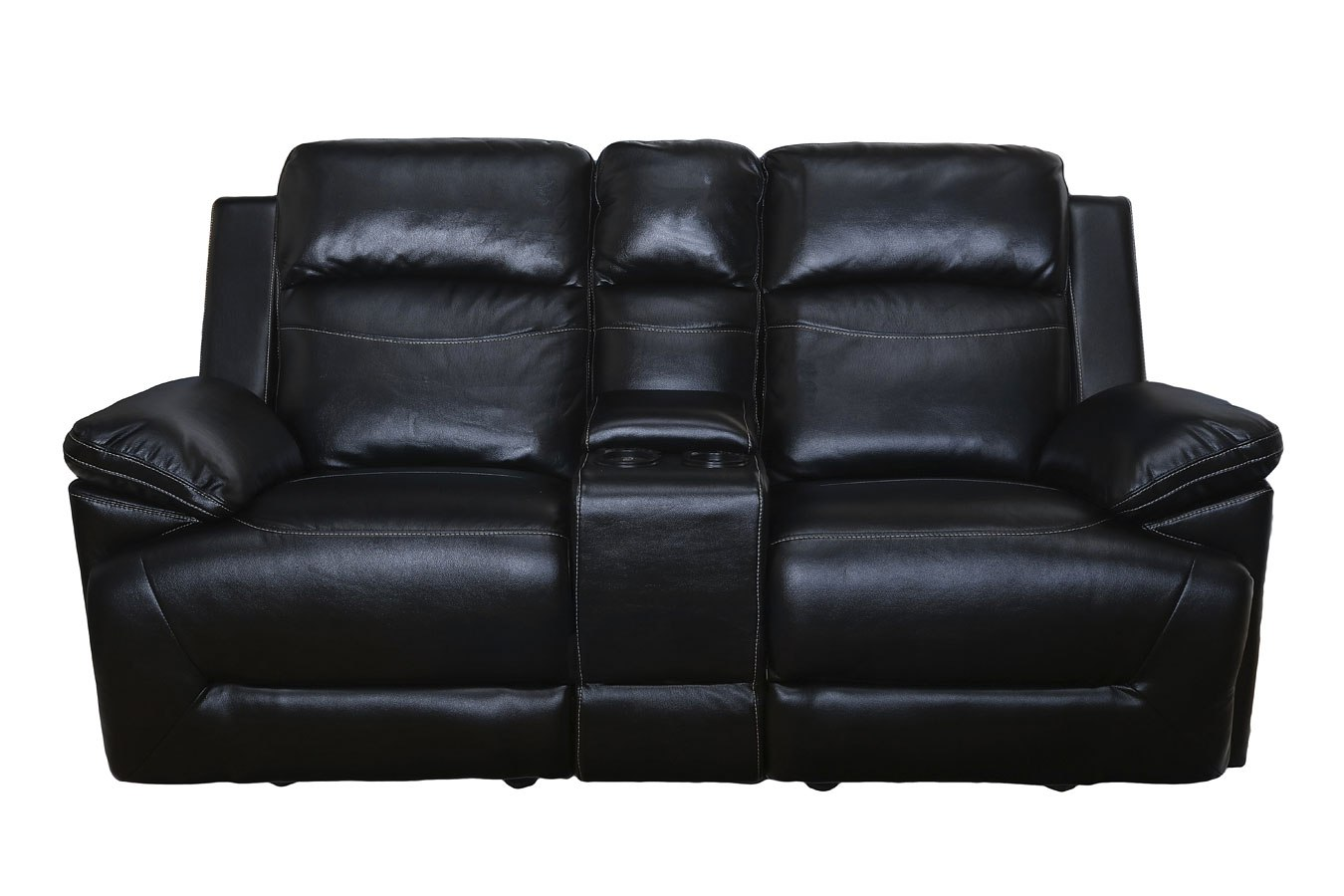 Cortez Dual Reclining Glider Console Loveseat Black By