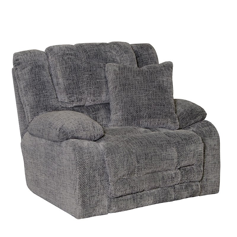 Branson Power Lay Flat Reclining Sectional Set Pewter By