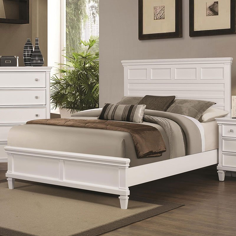 Camellia Panel Bedroom Set (White) By Coaster Furniture
