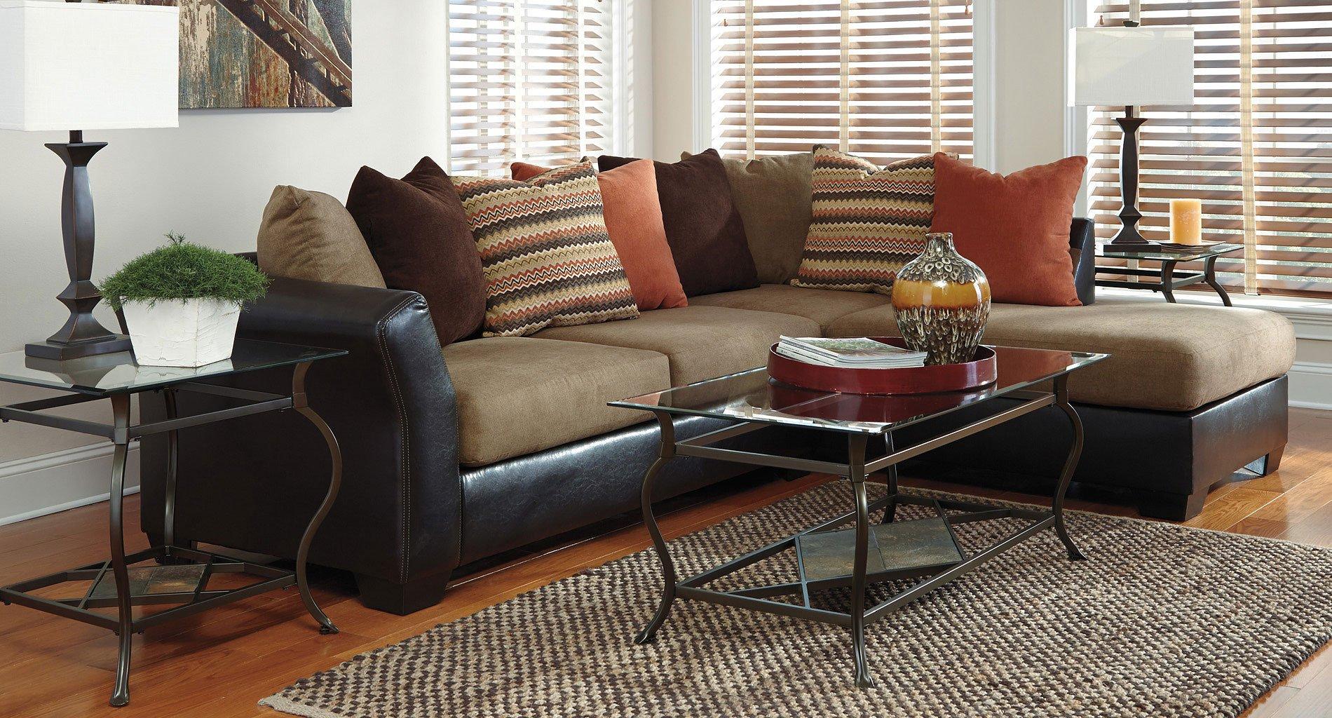 armant mocha sectional living room set by signature design by ashley 1 reviews furniturepick. Black Bedroom Furniture Sets. Home Design Ideas