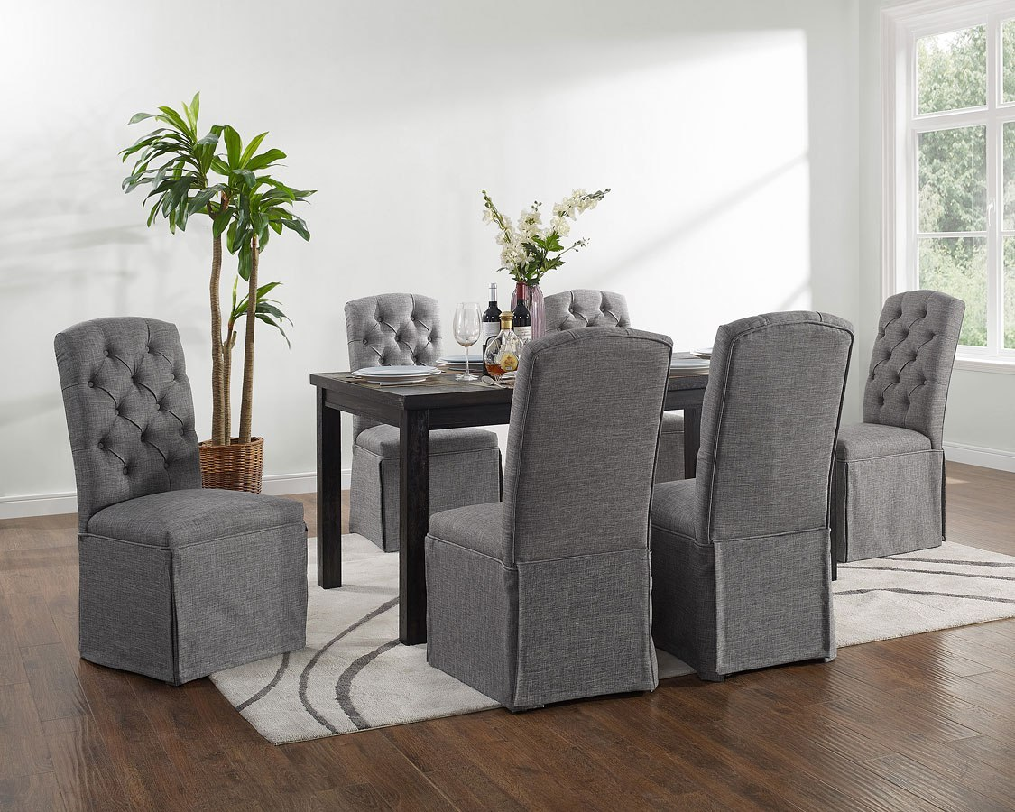 Palmer Dining Room Set W Parsons Chairs