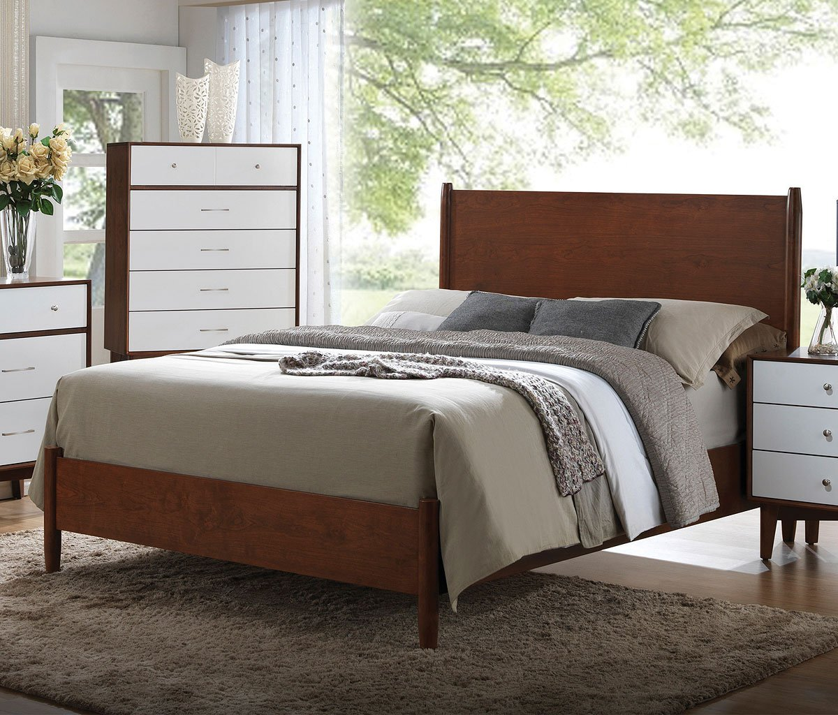 Oakwood Panel Bedroom Set By Coaster Furniture