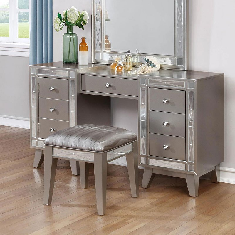 Leighton Vanity Desk W Stool By Coaster Furniture 1 Review S