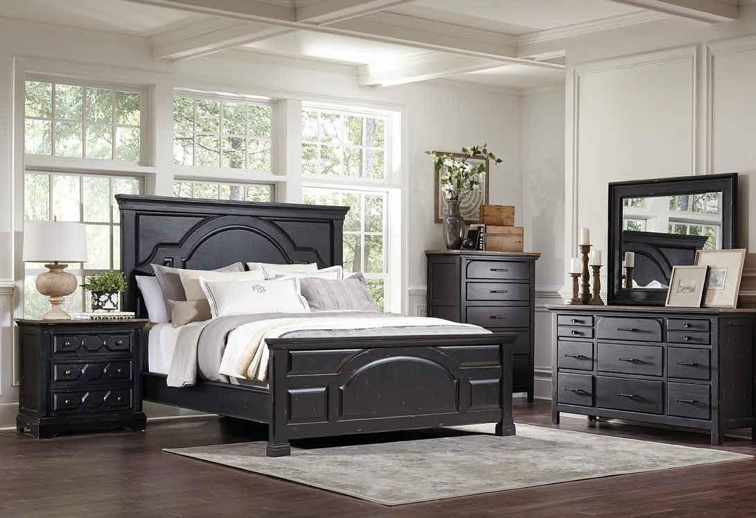 Celeste Panel Bedroom Set Vintage Black Bedroom Furniture Bedroom