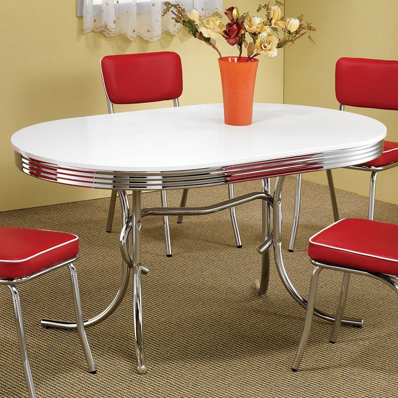 Beau Oval Retro Dining Table By Coaster Furniture