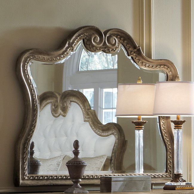 Accentrics Home Arabella Curved Mirror By Pulaski Furniture