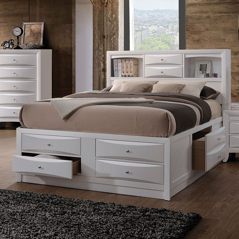 Ireland Bookcase Bed White Beds Bedroom Furniture Bedroom