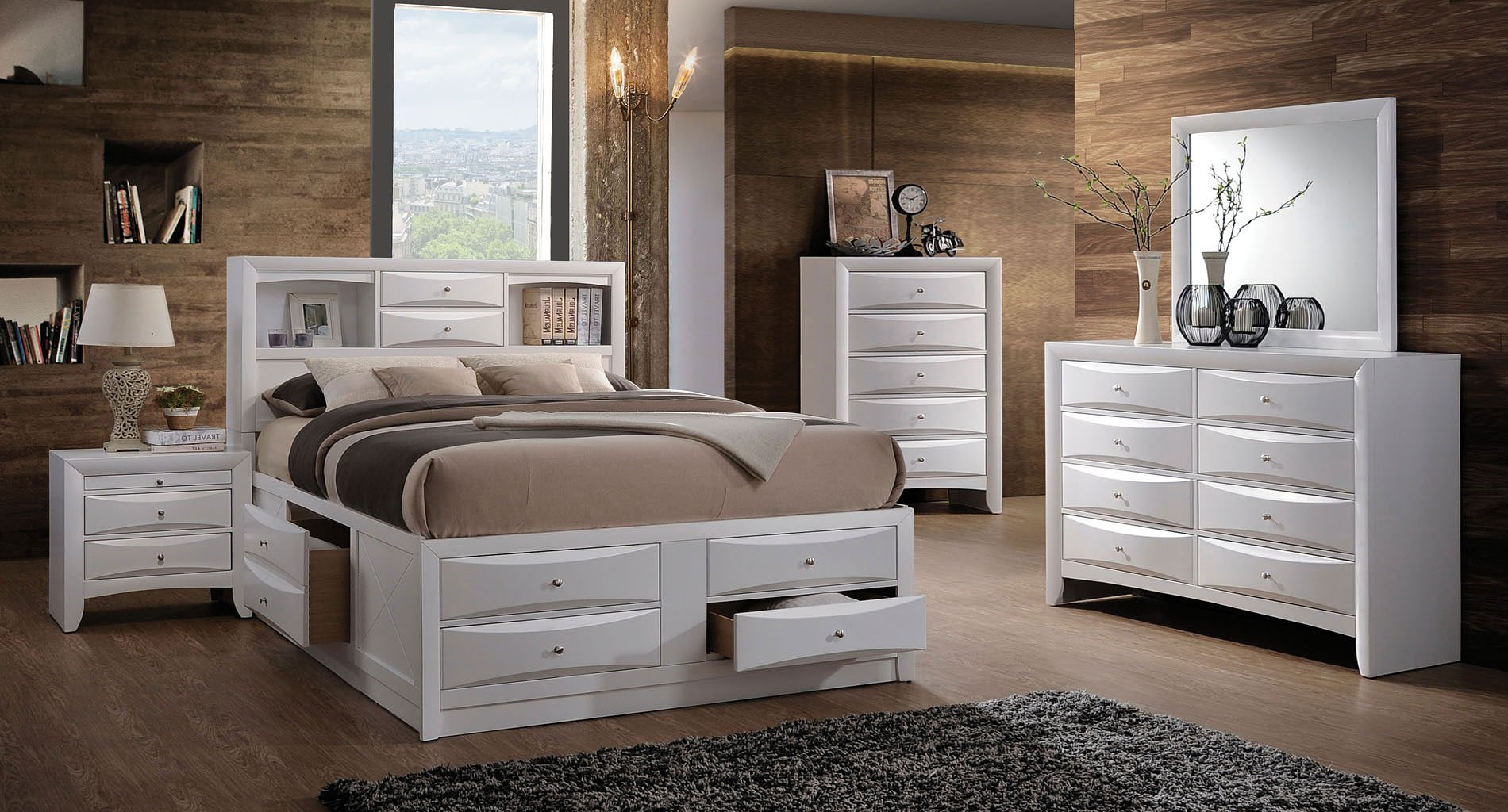 Ireland Youth Bookcase Bedroom Set (White) by Acme Furniture ...