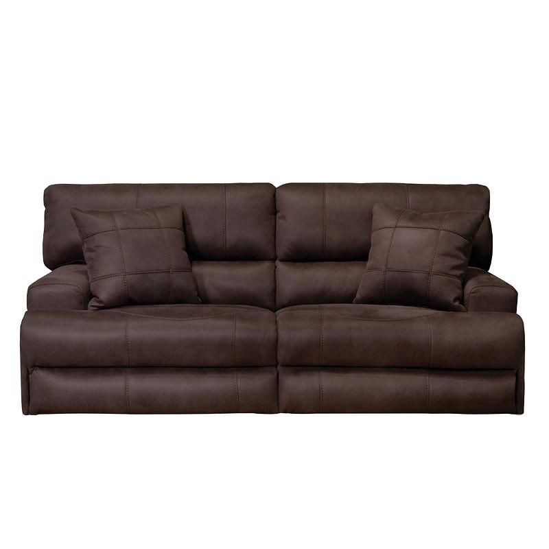 Monaco Lay Flat Reclining Living Room Set (Dark Chocolate