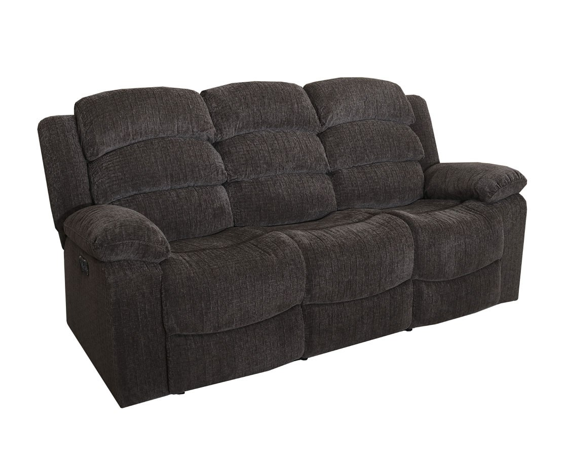 austin power reclining sofa w power headrest stone living room