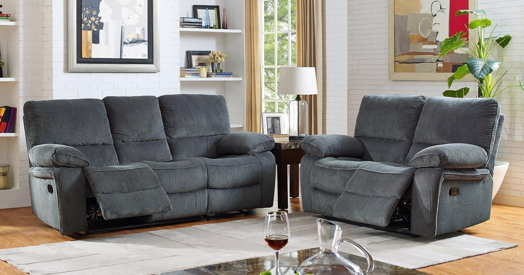 Walker Power Reclining Living Room Set Storm Grey
