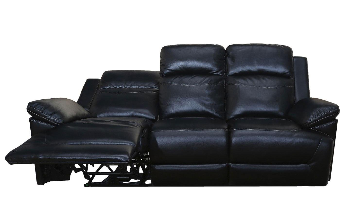 Cortez Power Reclining Sofa Black By New Classic