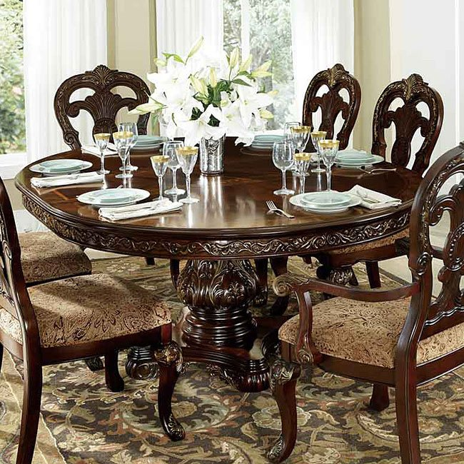 Homelegance Deryn Park Traditional Dining Table And Chair: Deryn Park Oval Dining Table By Homelegance