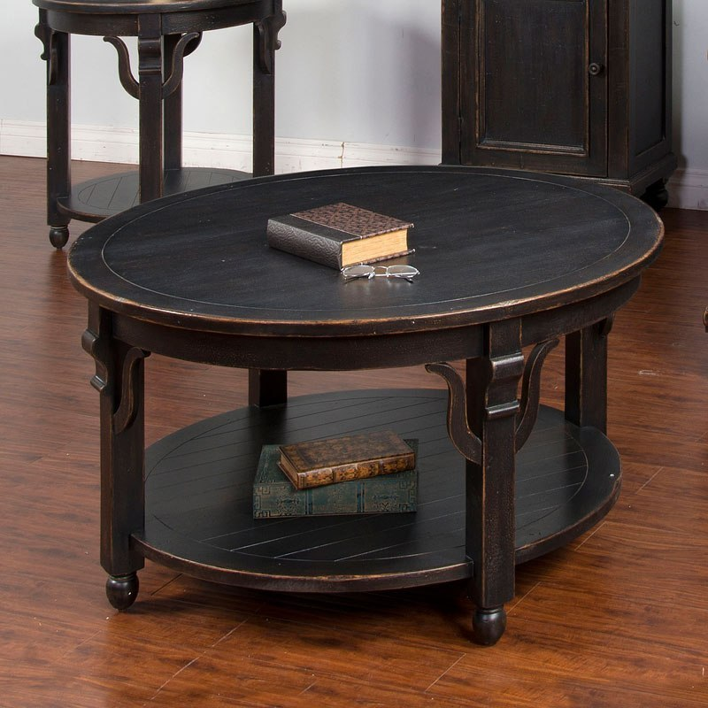 Round Coffee Table With Chairs.Distressed Black Round Occasional Table Set