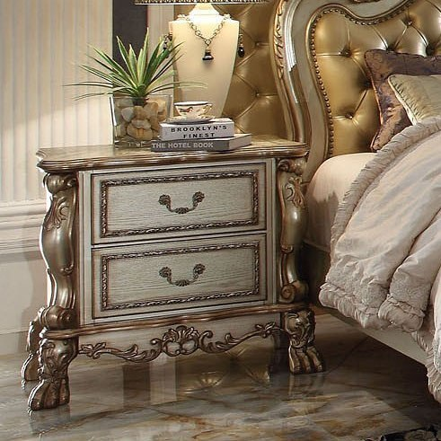 Dresden Nightstand (Gold Patina) By Acme Furniture
