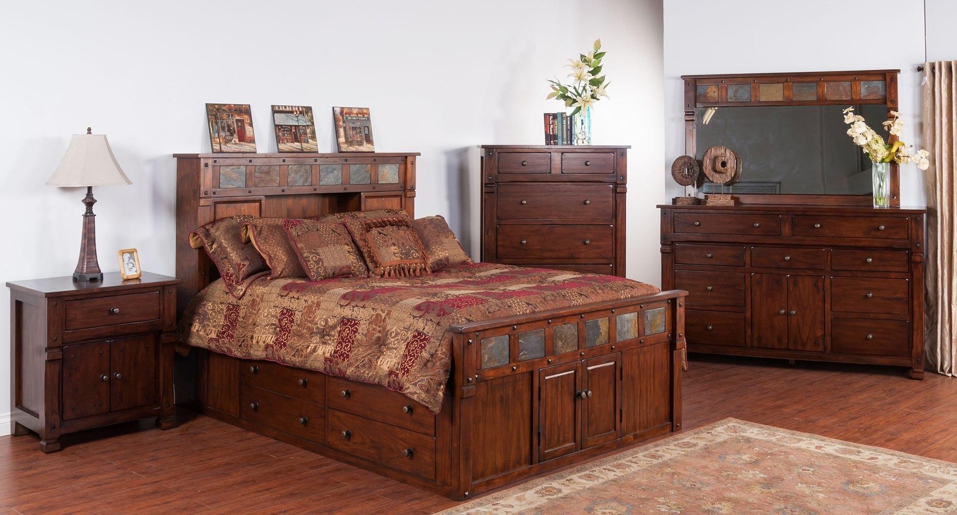 Santa Fe Bookcase Bedroom Set