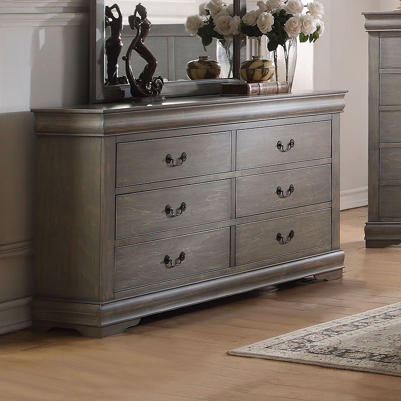 Louis Philippe Dresser Antique Gray Bedroom Furniture Bedroom