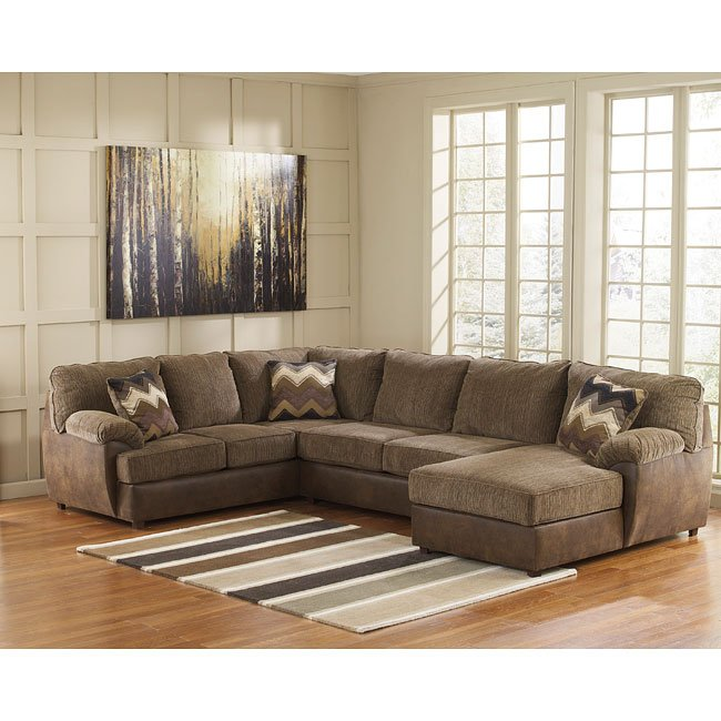 Sectional Sofas In Hickory Nc: Cladio Hickory Right Chaise Sectional By Benchcraft