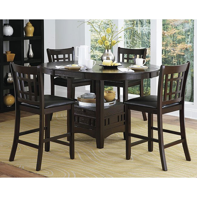 Junipero counter height dining room set homelegance for H o rose dining room