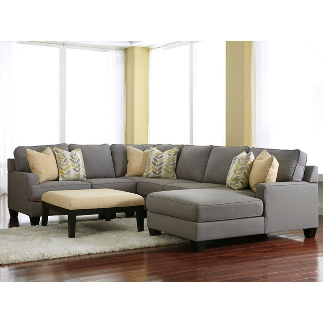 Chamberly Alloy Modular Sectional Set W Chaise Living