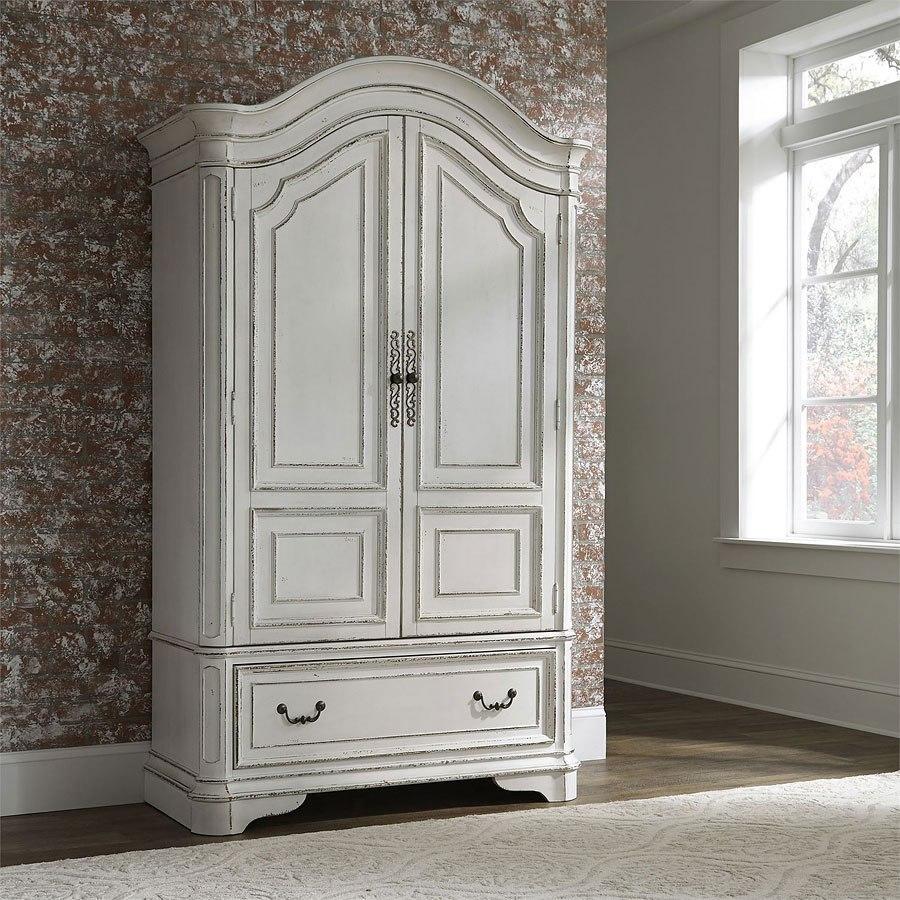 Magnolia Manor Antique White Panel Bedroom Set By Liberty