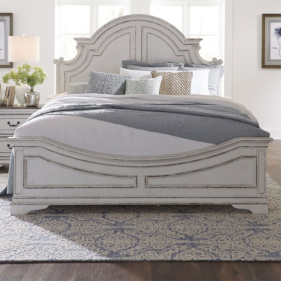 Antique Bed: Magnolia Manor Antique White Panel Bed By Liberty