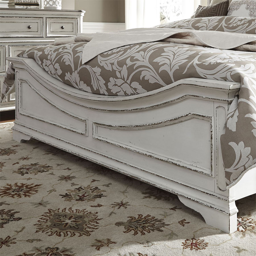 Magnolia Manor Antique White Panel Bed By Liberty