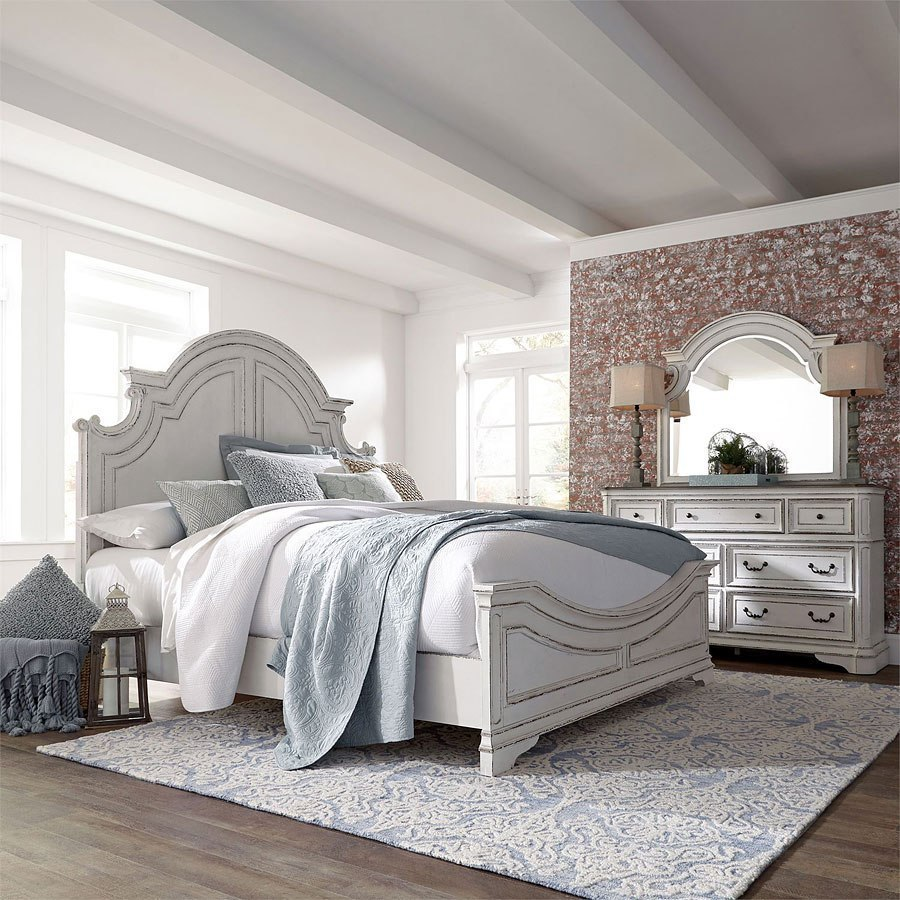 Magnolia Manor Antique White Panel Bedroom Set