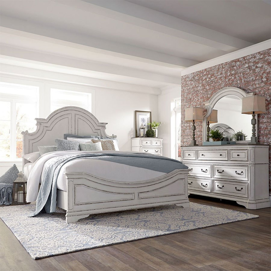 Magnolia Manor Antique White Panel Bedroom Set by Liberty ...