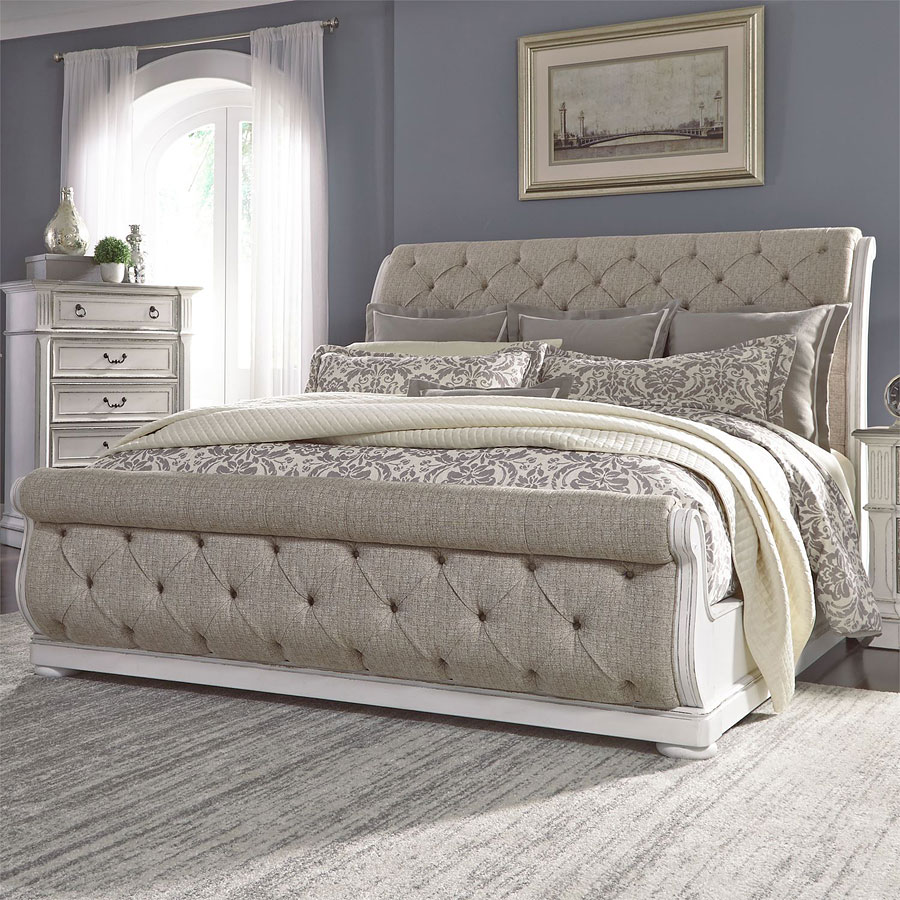 Magnolia Manor Upholstered Sleigh Bed By Liberty Furniture