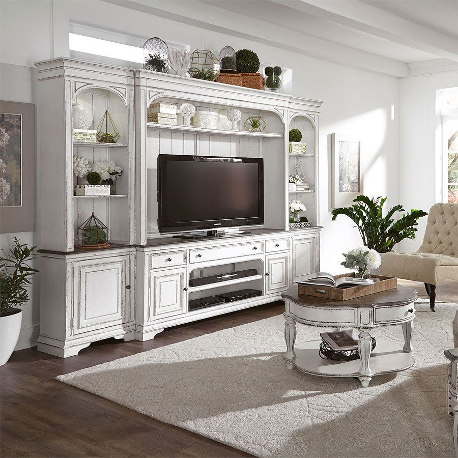 Magnolia Manor Entertainment Center With Piers By Liberty