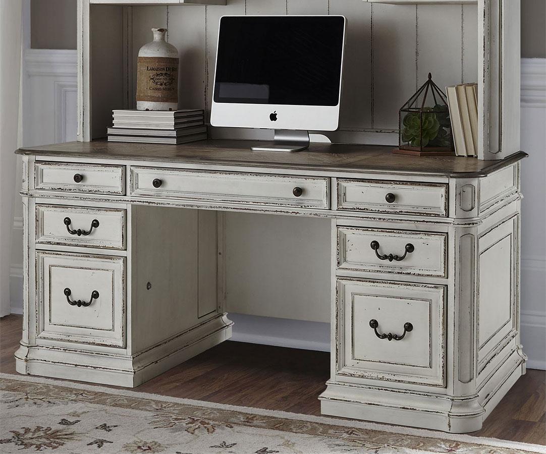 Credenza La Maison : Magnolia manor jr executive credenza by liberty furniture