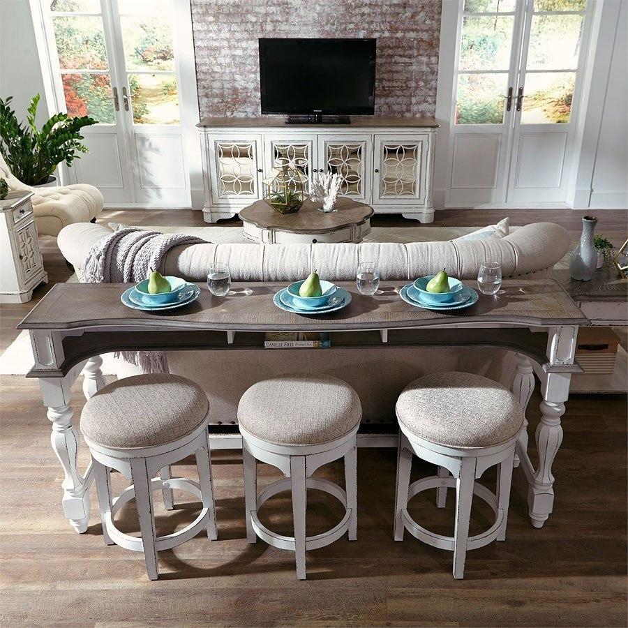 Magnolia Manor Console Bar Table W Swivel Stools