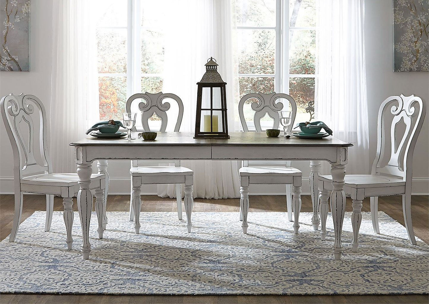 Magnolia Manor 90 Inch Dining Room Set W Wood Chairs By Liberty