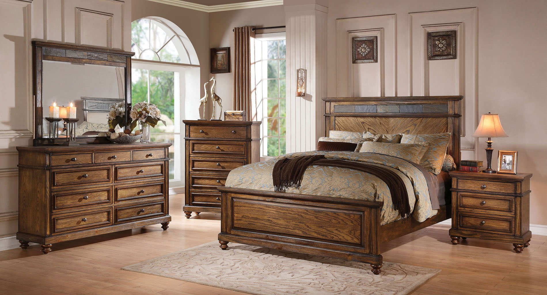 Arielle Slate Panel Bedroom Set By Acme Furniture