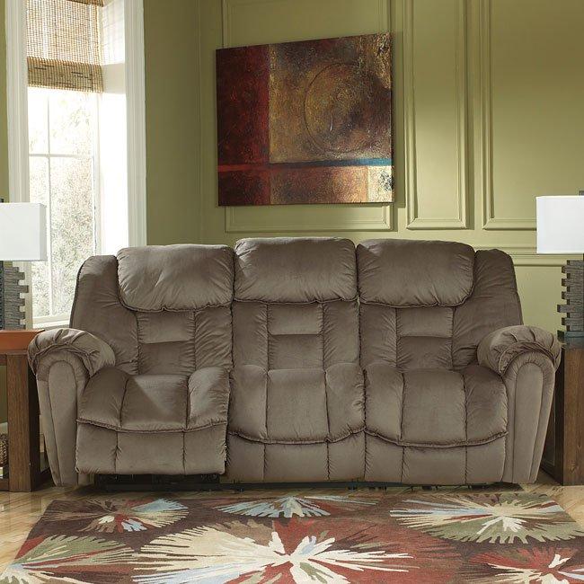 Brasher Mocha Reclining Sofa By Benchcraft Furniturepick