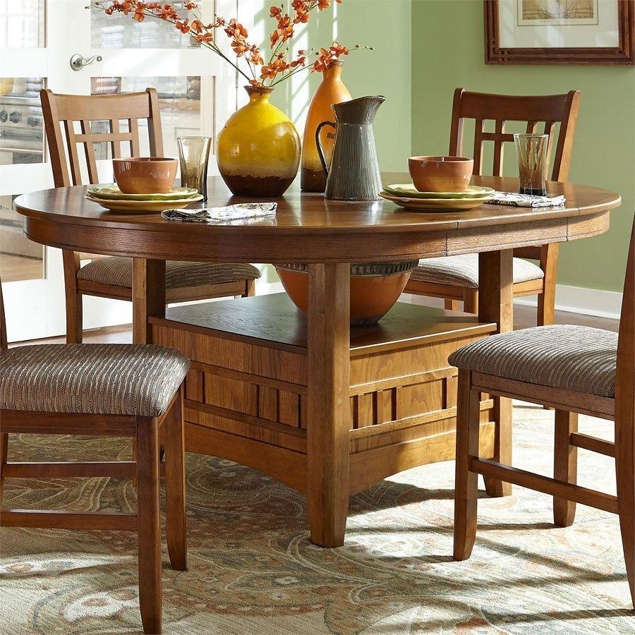 Santa Rosa Round Dining Room Set (Mission Oak) By Liberty