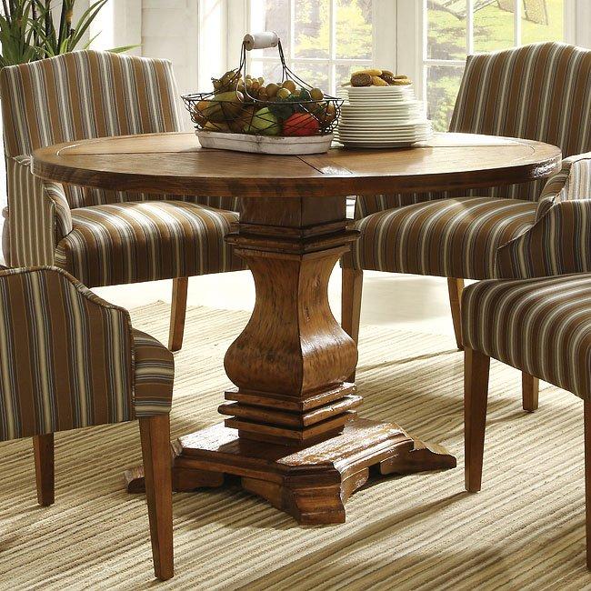 Euro Casual Dining Room Set (Rustic Oak) By Homelegance