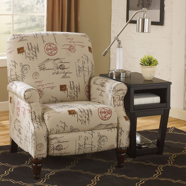 Ashley Furniture Bed Frames >> Placido Script High Leg Recliner - Recliners and Rockers - Living Room Furniture - Living Room