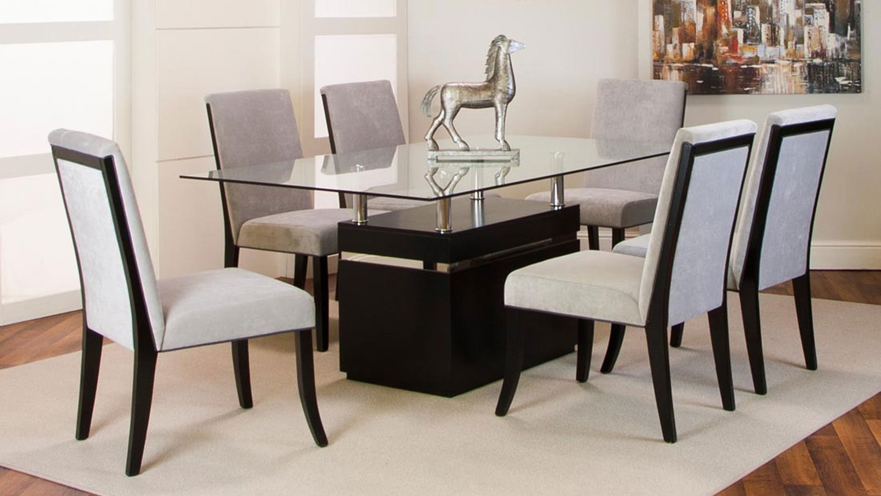 42 Best Images About Dream Dining Rooms And Kitchens On: Nicole Clear Glass Top Dining Room Set