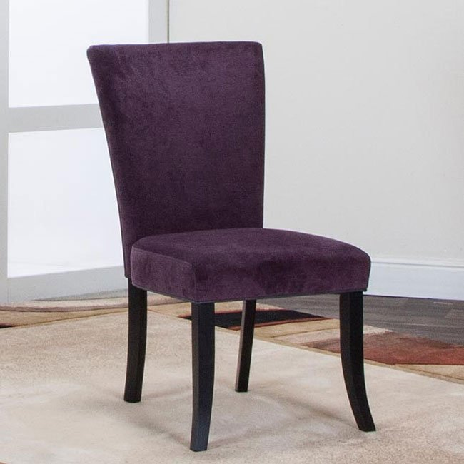 Sumner wing parsons chair plum set of 2 dining for Plum dining room chairs