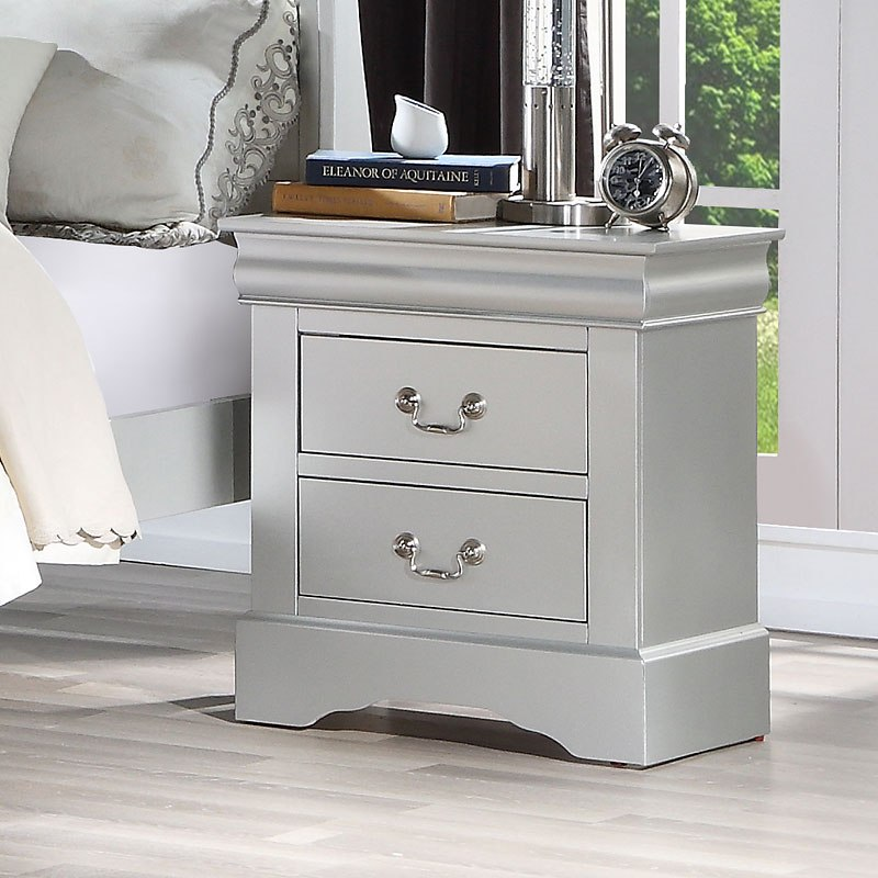 Louis Philippe Iii Sleigh Bedroom Set Platinum By Acme