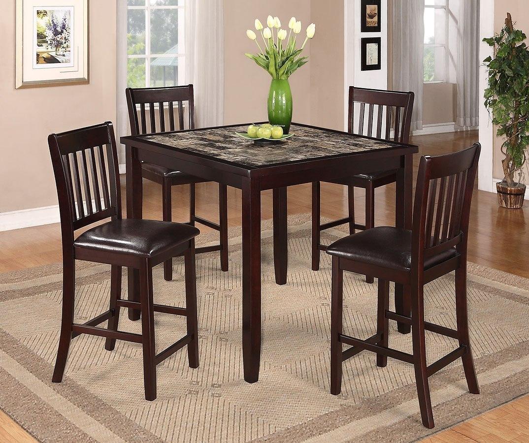 Cascade 5 Piece Counter Height Dining Set
