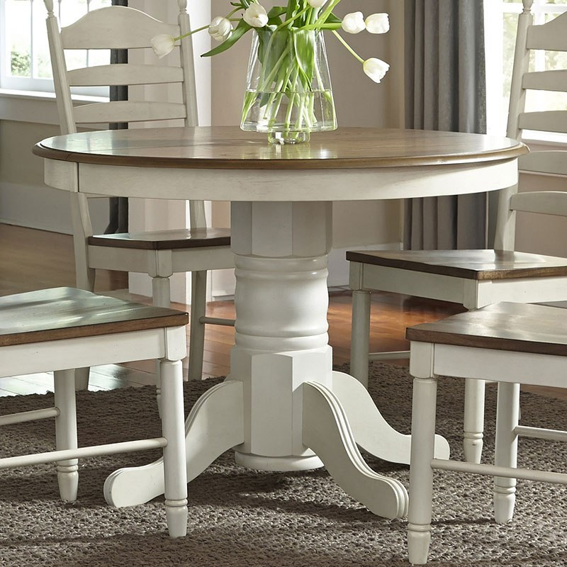 springfield round dining room setliberty furniture 1