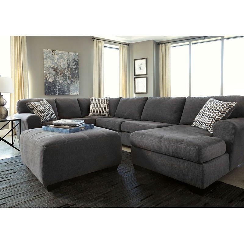 Pine Brook Boulder Mountain Residence Living Room: Sorenton Slate Sectional Living Room Set By Benchcraft