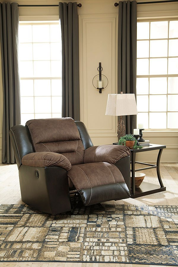 Earhart Chestnut Reclining Living Room Set By Signature