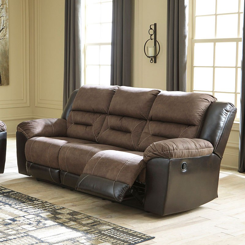 Earhart Chestnut Reclining Sofa By Signature Design By Ashley